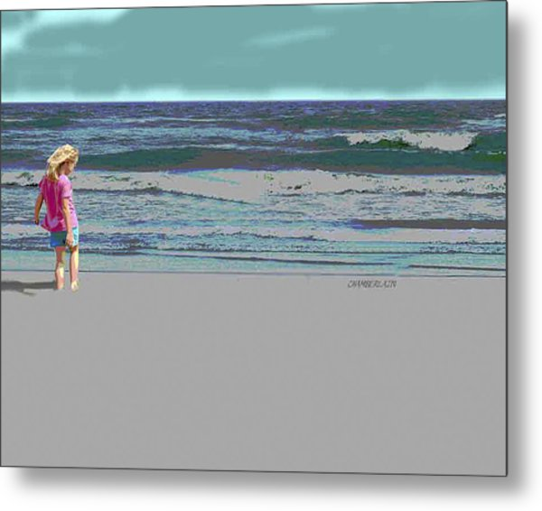 Rosie On The Beach Metal Print