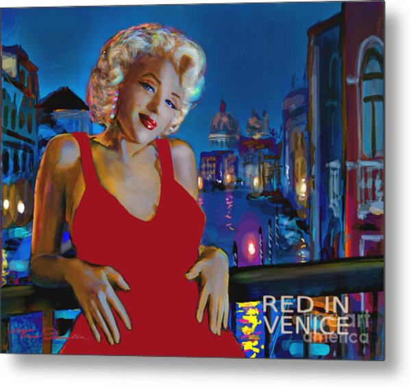 Rot In Venedig / Red In Venice Metal Print