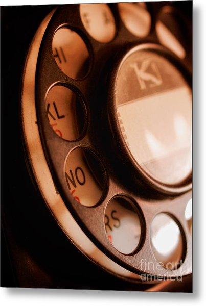 Rotary Dial Metal Print