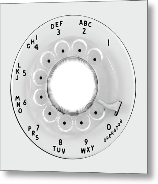 Rotary Telephone Dial Metal Print