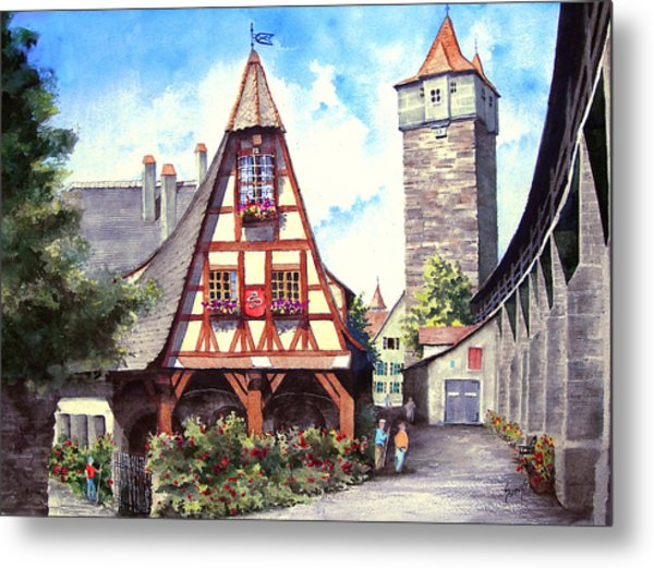 Rothenburg Memories Metal Print
