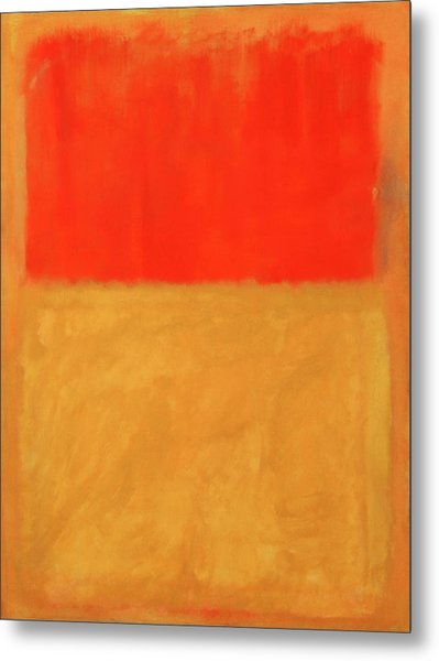 Rothko's Orange And Tan Metal Print