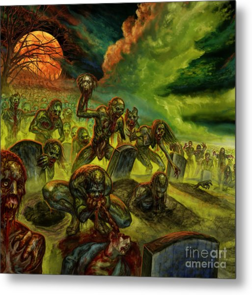 Rotten Souls Taint The Land Metal Print