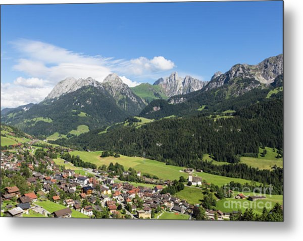 Rougemont Village In Switzerland Metal Print