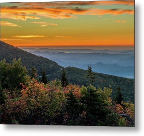 Rough Morning - Blue Ridge Parkway Sunrise Metal Print