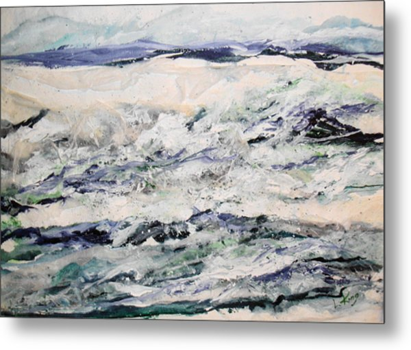 Rough Sea Metal Print by Linda King