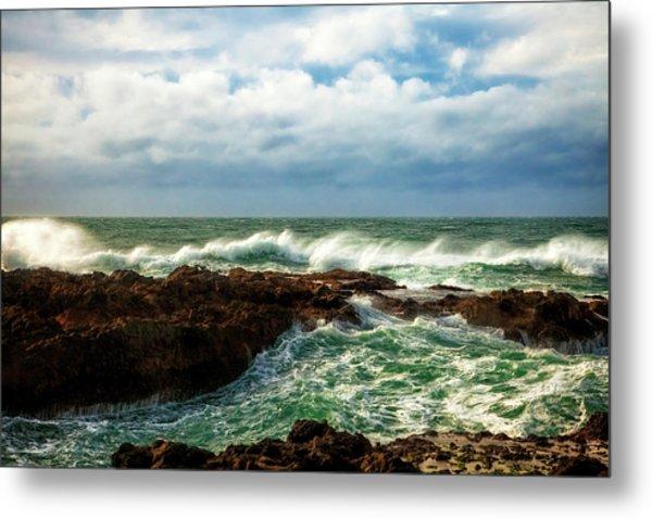 Rough Seas Metal Print by Andrew Soundarajan