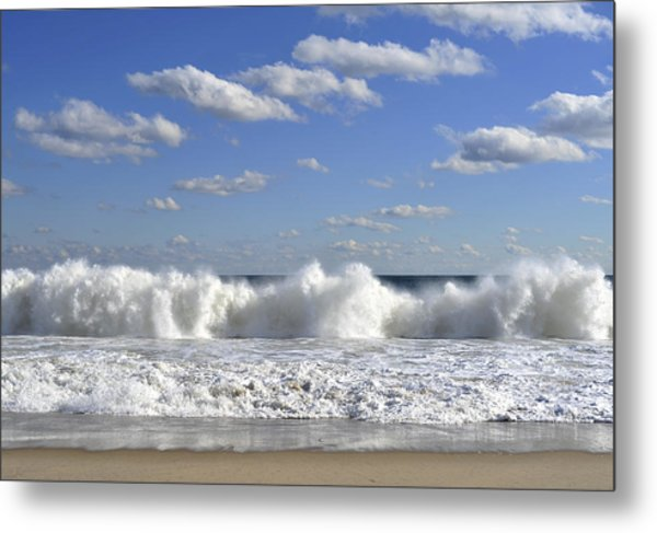 Rough Surf Jersey Shore  Metal Print