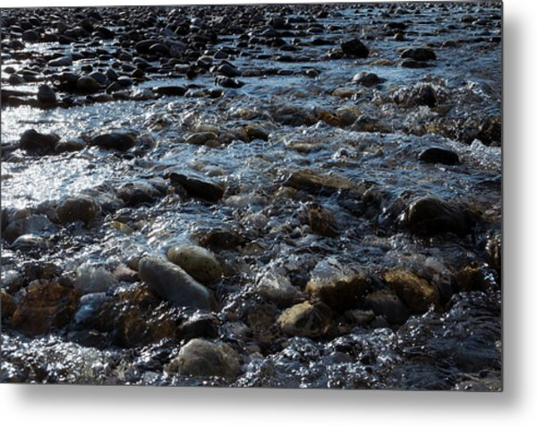 Metal Print featuring the photograph Rough Waters by Helga Novelli