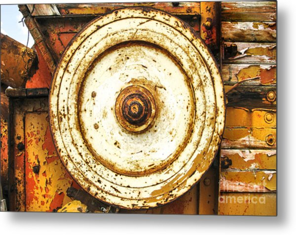 Round And Around And Metal Print by Kim Lessel