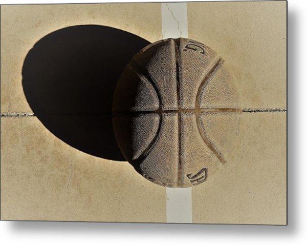Round Ball And Shadow Metal Print