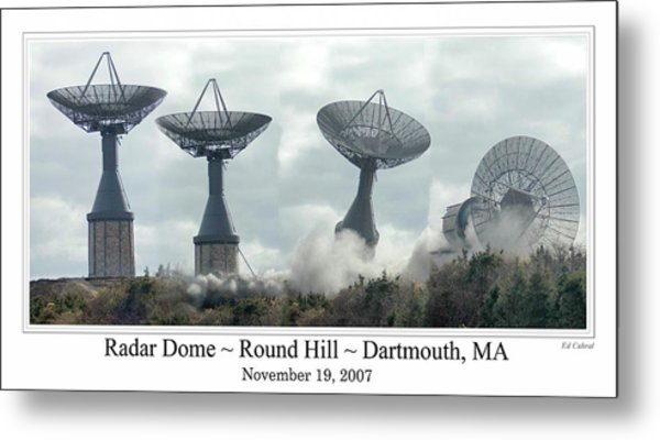 Round Hill Radar Demolition Metal Print