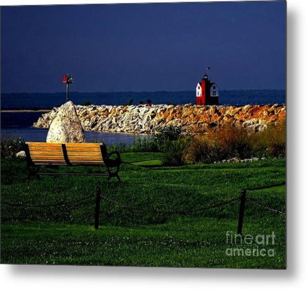 Round Island Lighthouse Mackinac Island Michigan Metal Print