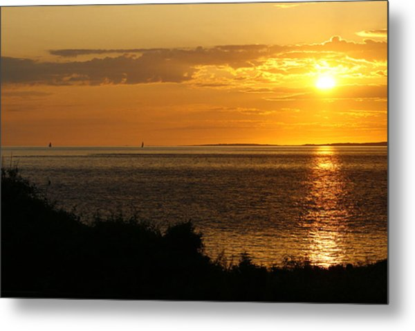 Rounding Block Island At Sunrise Metal Print