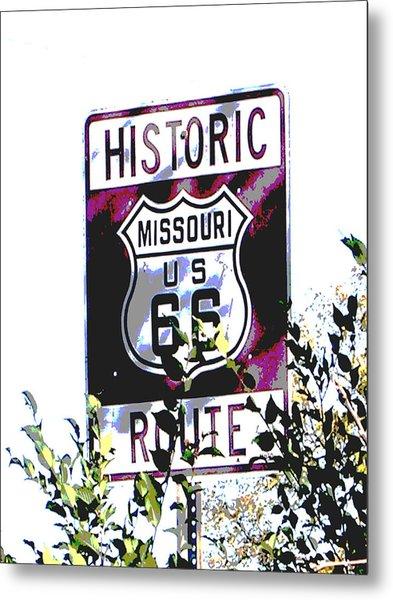 Route 66 2 Metal Print by Audrey Venute
