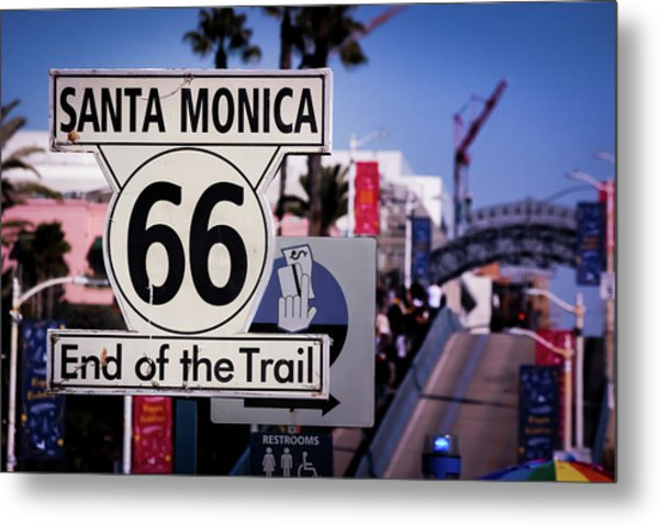 Route 66 End Of Trail Metal Print