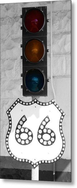 Route 66 Metal Print by Karen Scovill