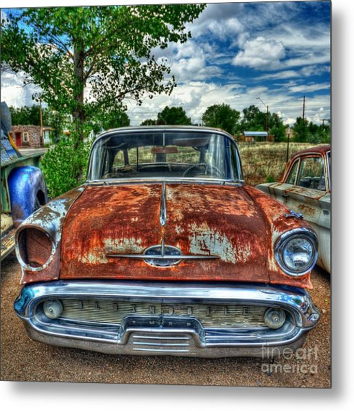 Route 66 Oldsmobile Metal Print by John Kelly