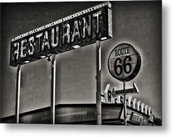 Route 66 Restaurant Metal Print