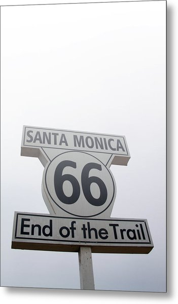 Route 66 Santa Monica- By Linda Woods Metal Print
