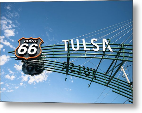 Metal Print featuring the photograph Route 66 Tulsa Vintage Street Art  by Gregory Ballos