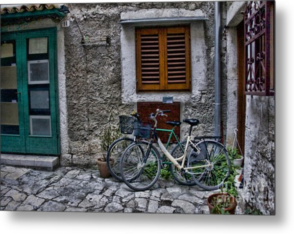 Rovinj Bicycles Metal Print