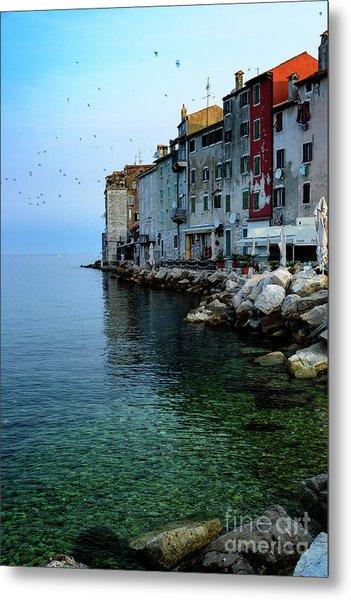 Rovinj Venetian Buildings And Adriatic Sea, Istria, Croatia Metal Print
