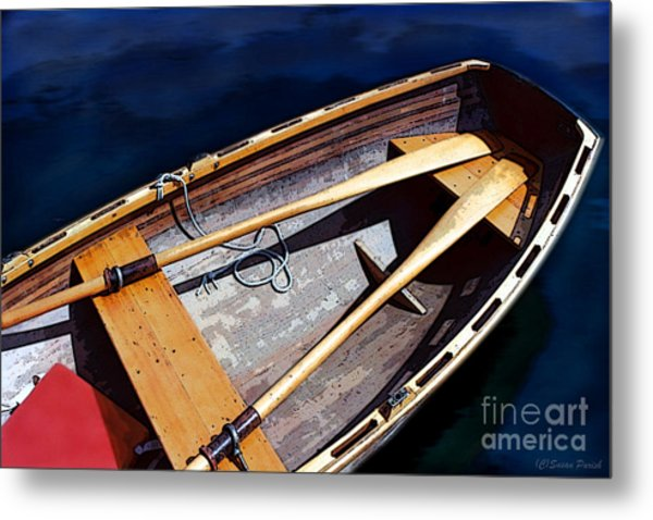 Metal Print featuring the photograph Row Boat Red Rillow by Susan Parish