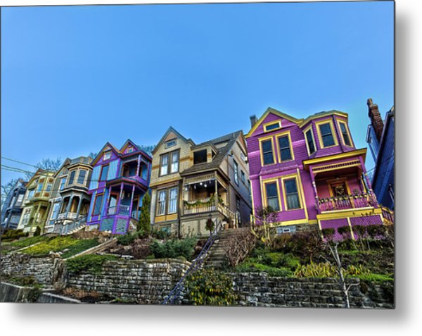 Row Houses Metal Print