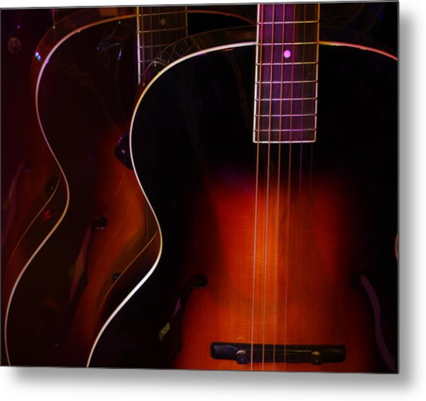 Row Of Guitars Metal Print