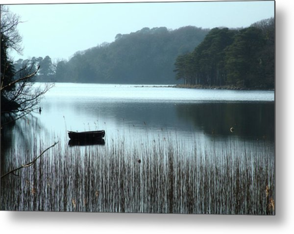 Rowboat On Muckross Lake Metal Print