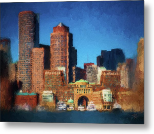 Rowes Wharf Boston Metal Print