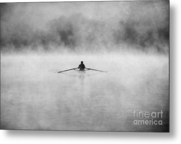 Rowing On The Chattahoochee Metal Print