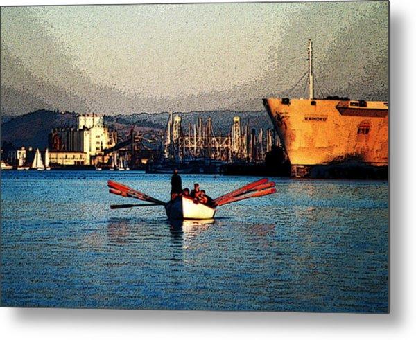 Rowing On The Estuary Metal Print