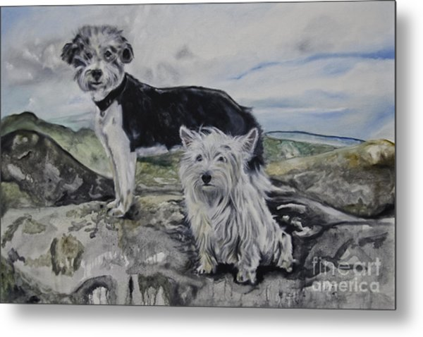 Roxie And Skye Metal Print