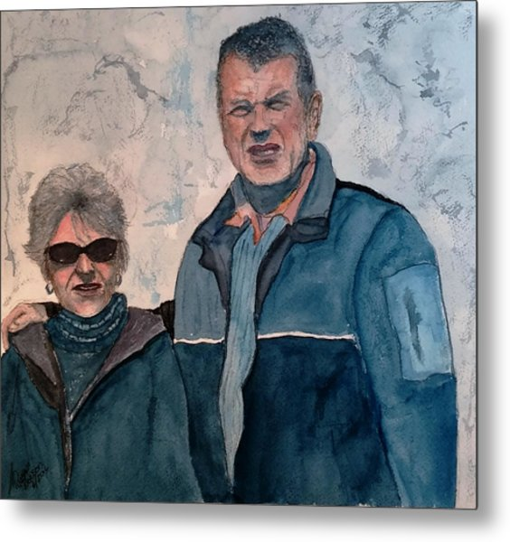 Roy And Kathy In Mexico Sold Metal Print
