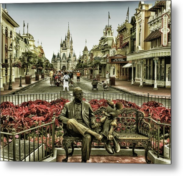 Roy And Minnie Mouse Antique Style Walt Disney World Mp Metal Print
