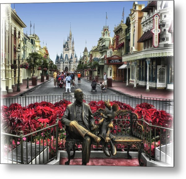 Roy And Minnie Mouse Walt Disney World Mp Metal Print