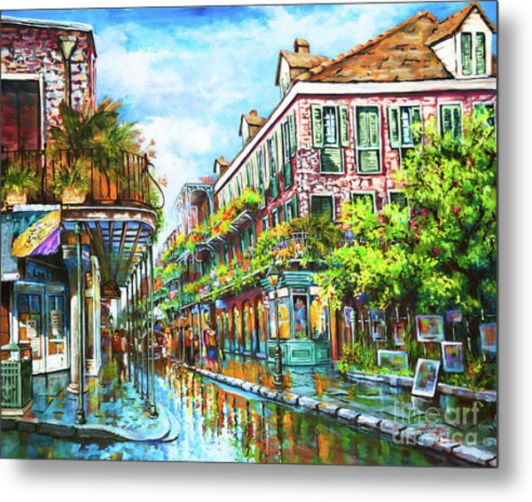 Royal At Pere Antoine Alley, New Orleans French Quarter Metal Print