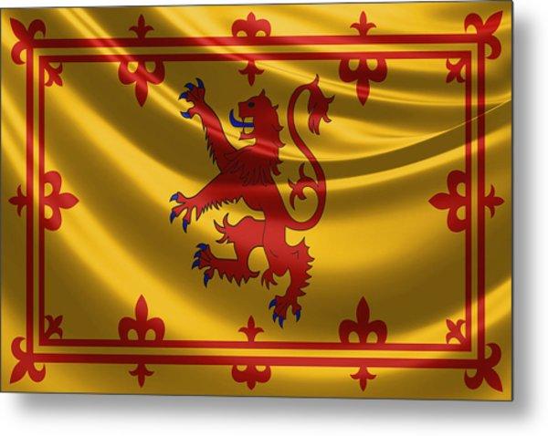 Royal Banner Of The Royal Arms Of Scotland Metal Print