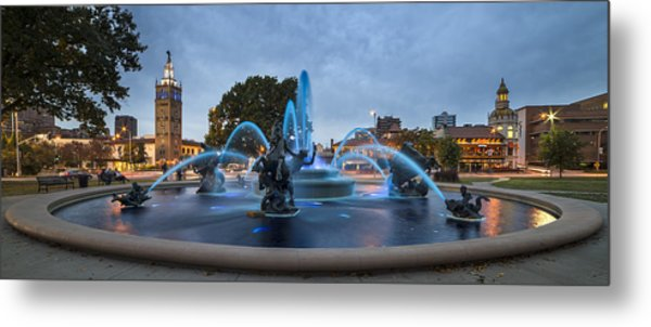 Royal Blue Fountain Metal Print