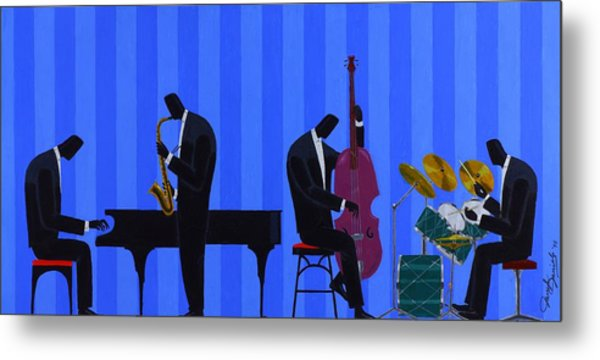 Royal Blues Quartet Metal Print