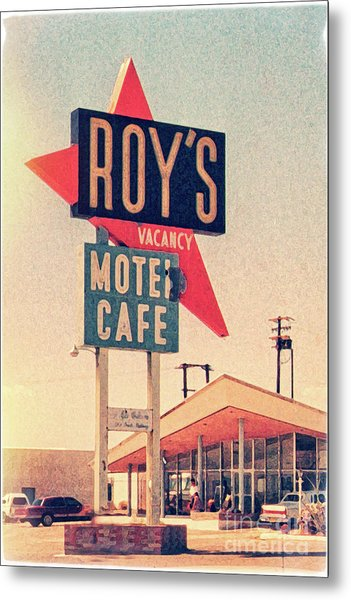 Roy's Motel Metal Print by Delphimages Photo Creations