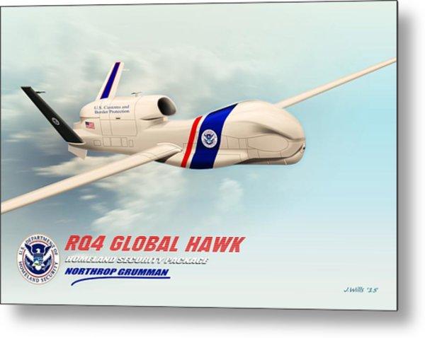 Rq4 Global Hawk Drone United States Metal Print