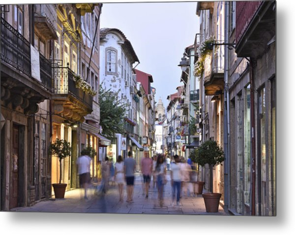 Rua Do Souto Braga Portugal Metal Print