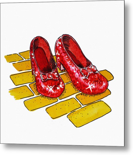 Ruby Slippers The Wizard Of Oz  Metal Print