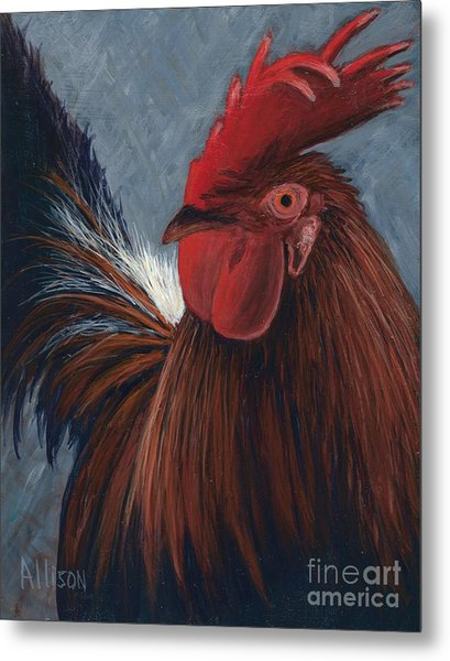 Rudy The Rooster Metal Print