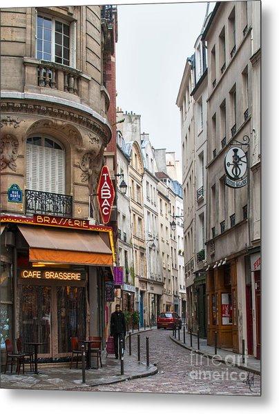 Rue Dante Paris Metal Print