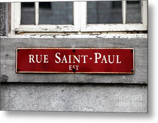 Rue Saint-paul Metal Print by John Rizzuto