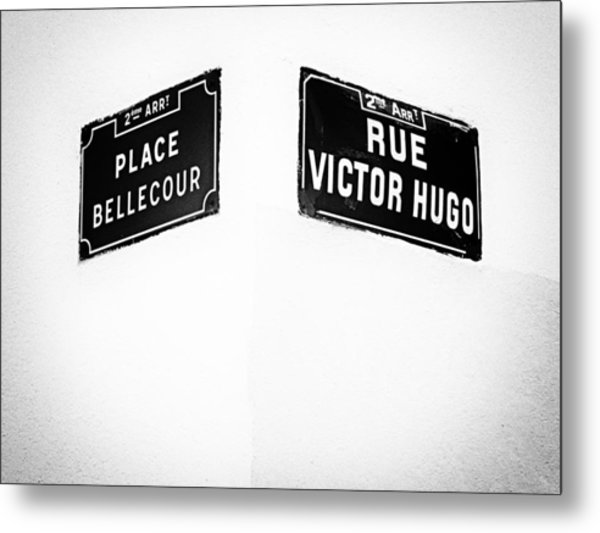 The Corner Of Place Bellecour And Rue Victor Hugo Metal Print